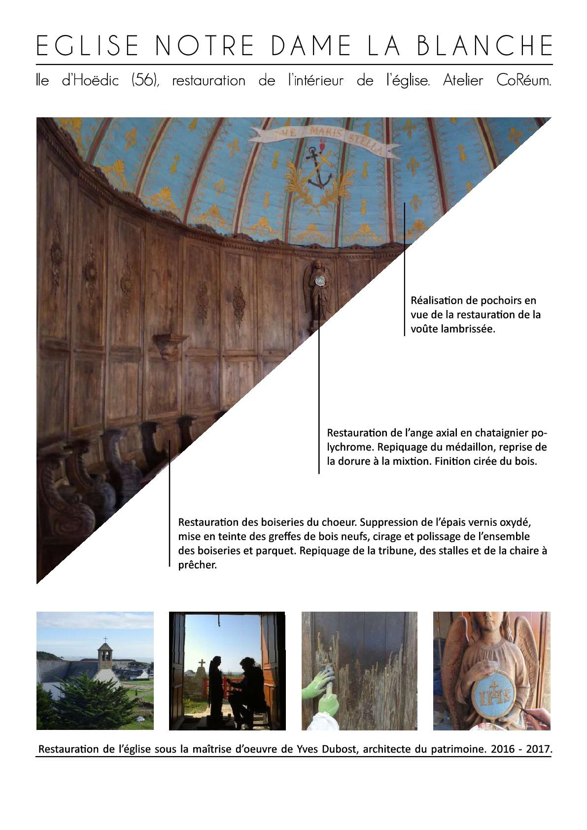 restauration patrimoine architecture boiserie hoedic coreum monument conseil