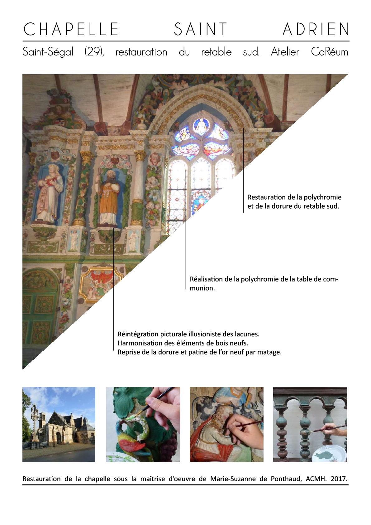 restauration patrimoine mobilier monument finistere bretagne coreum retable polychrome