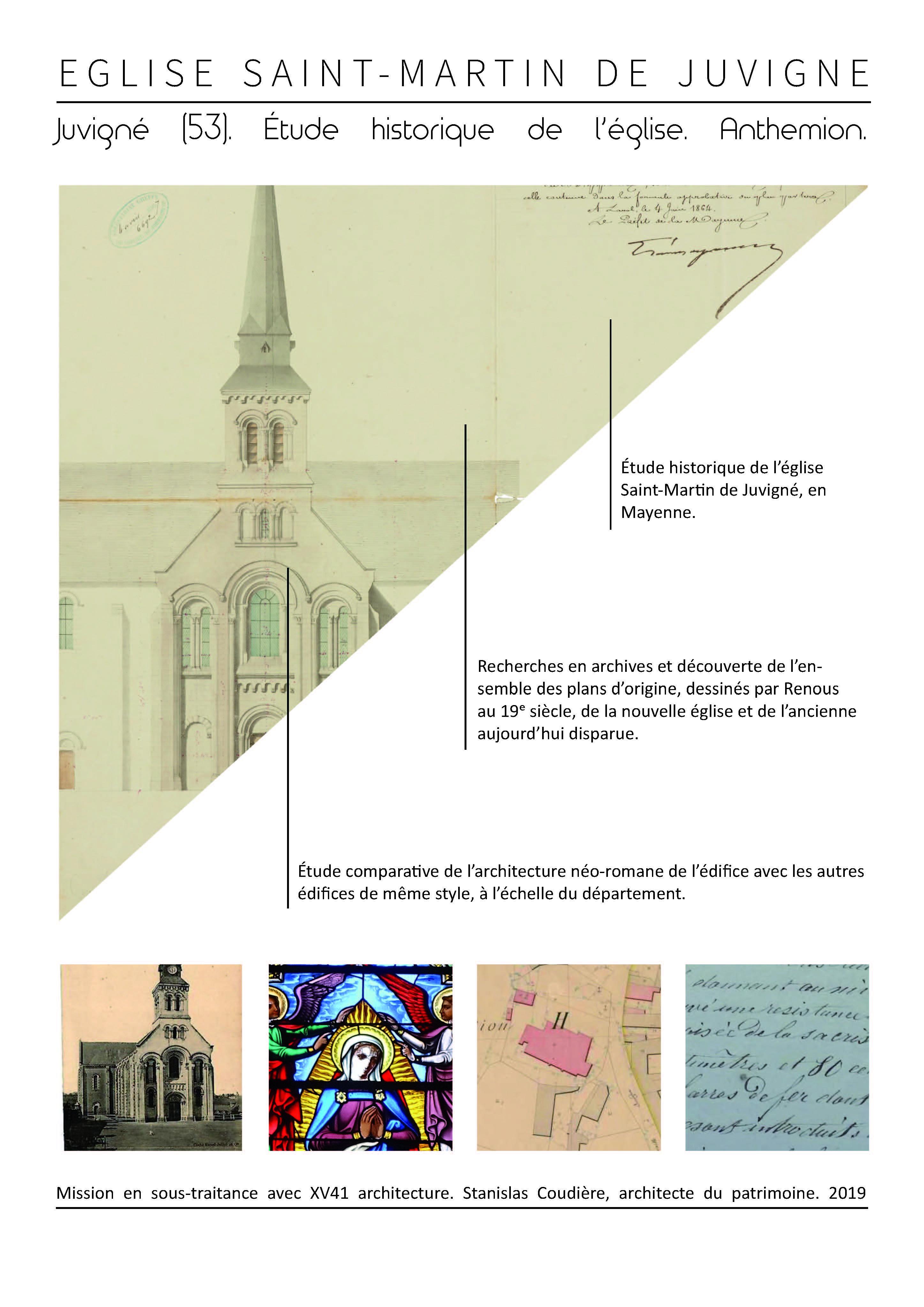 juvigne etude historique recherche histoire archive assistance prealable restauration