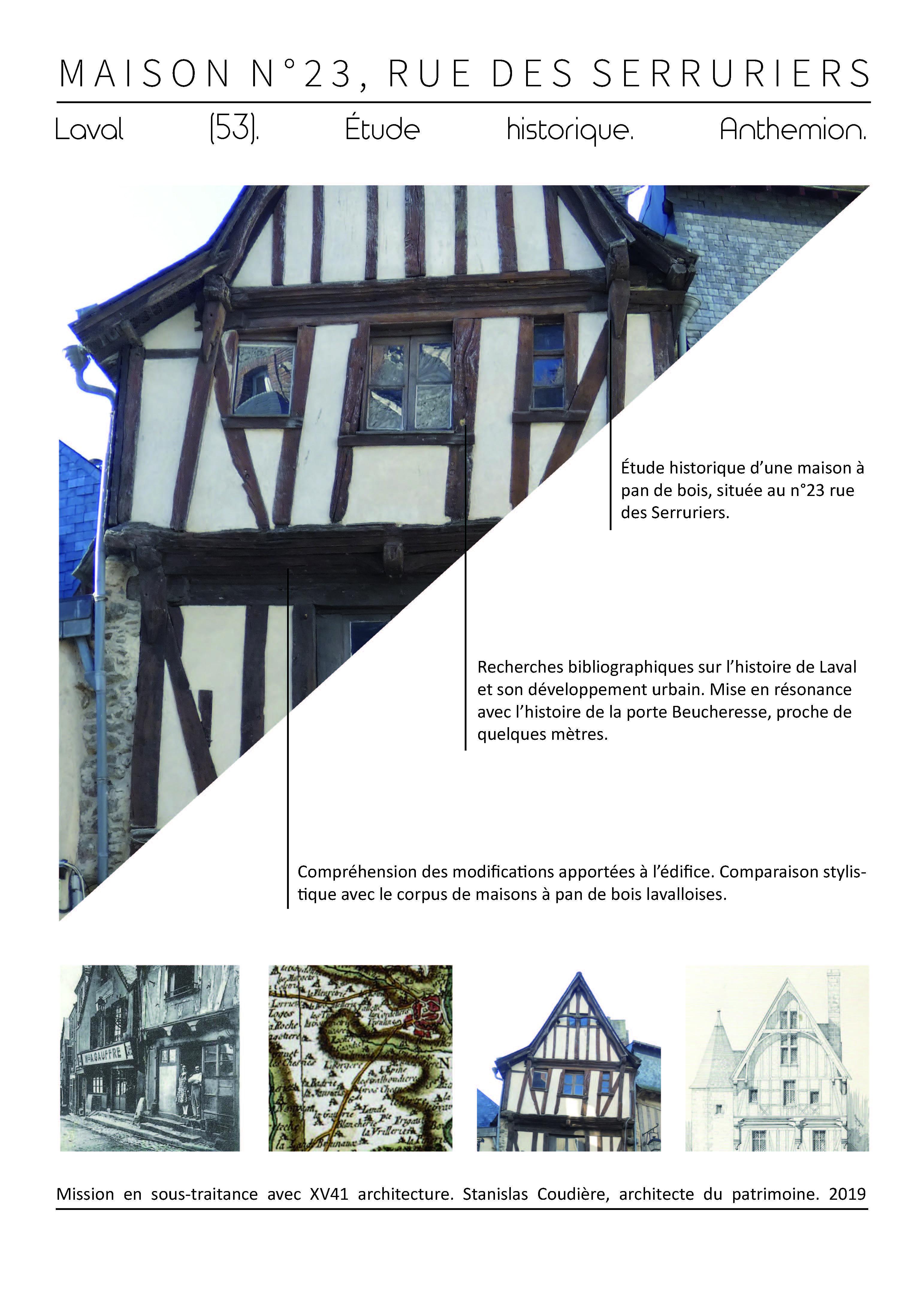 etude historique histoire patrimoine pan de bois laval architecture assistance monument
