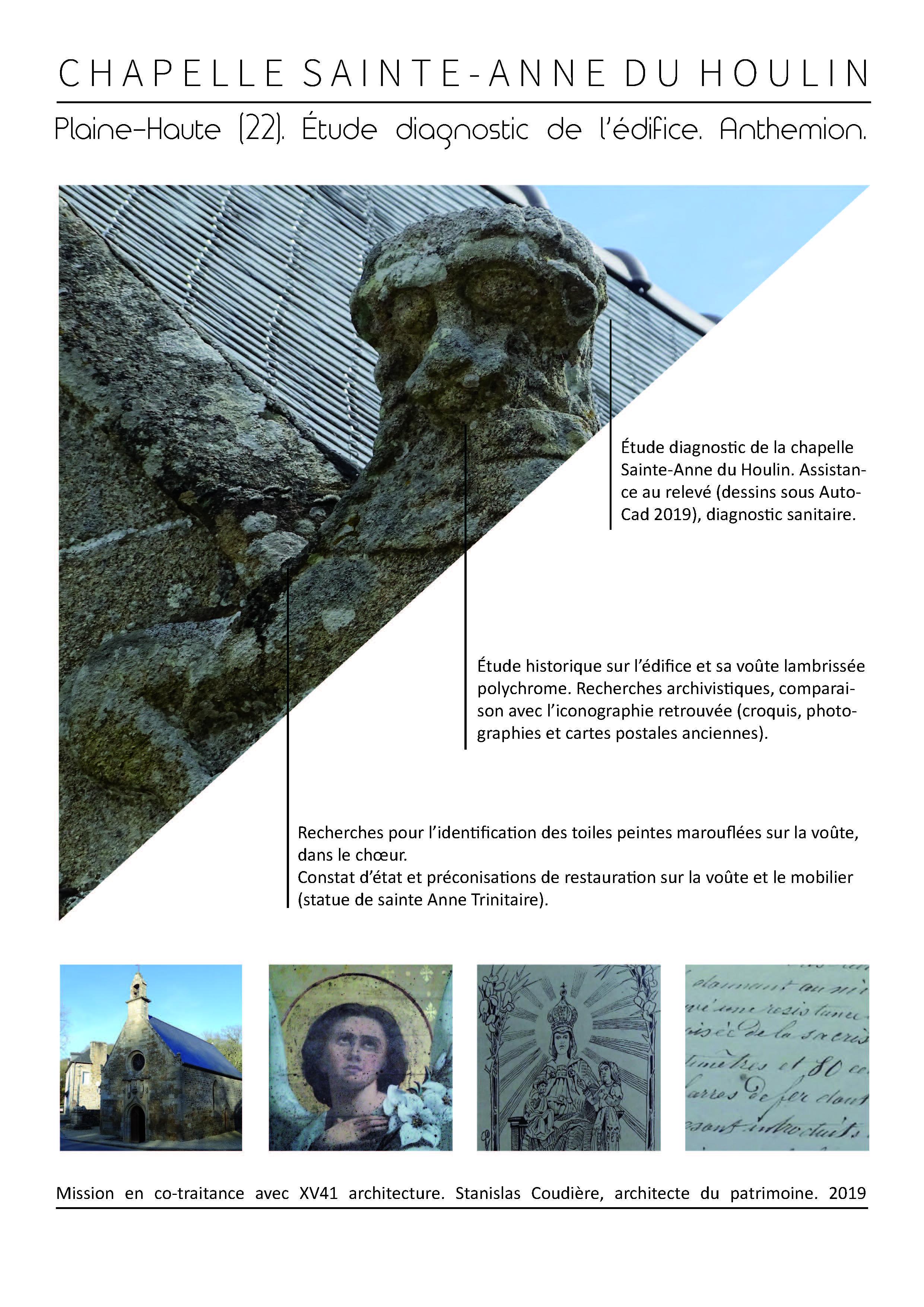 etude diagnostic chapelle sainte anne plaine haute cotes d'armor bretagne restauration patrimoine bati architecture assistance maîtrise d'oeuvre