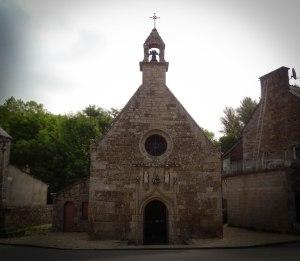 pignon ouest de la chapelle sainte Anne du Houlin, Plaine-Haute, Côtes d'Armor.